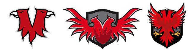 наброски логотипа клана