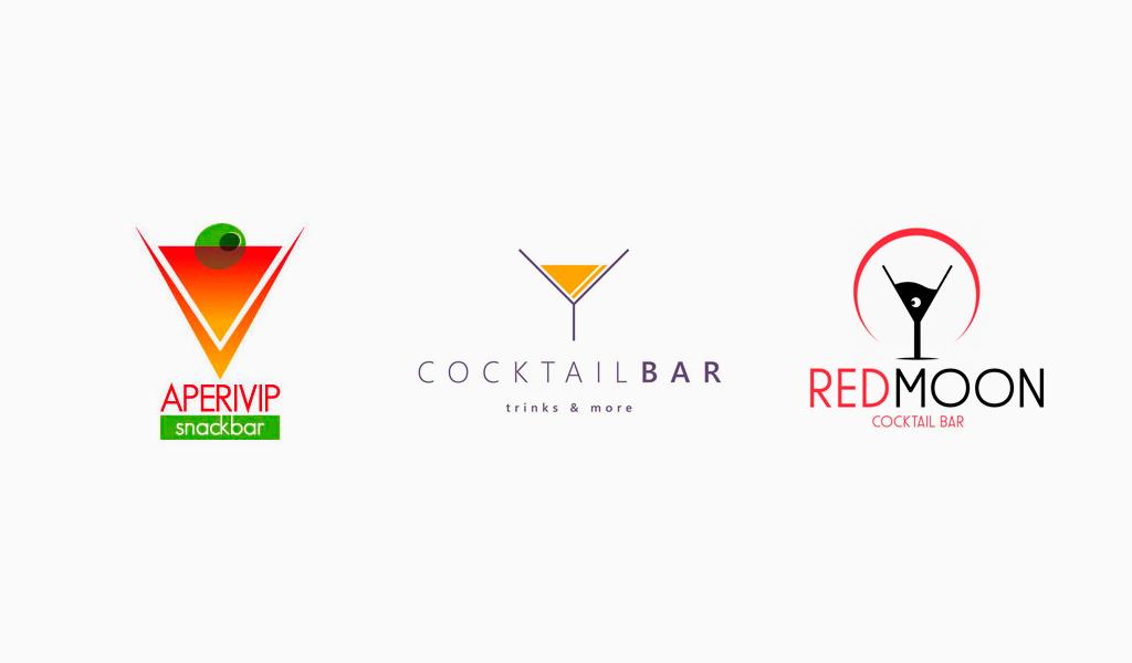 Логотипы коктейль-бара