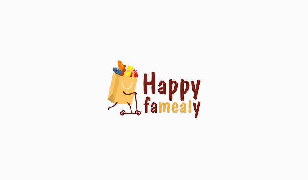 Веселый логотип